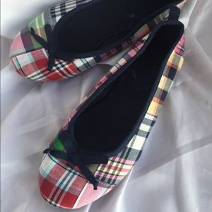 GAP Plaid Flats with Bow